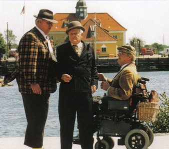 Morten Grundwald(Benny), Ove Sprogøe(Egon) und Poul Bundgaard(Kjeld)